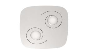 LED-Deckenleuchte Marlin in weiß, 2-flammig