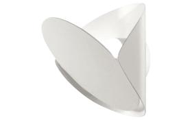 LED-Wandleuchte Shield in weiß