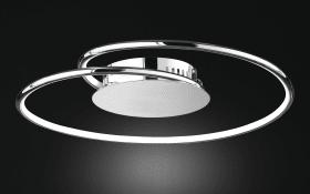 LED-Deckenleuchte Louis in chromfarbig, 45 cm