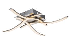 LED-Deckenleuchte Jorne in Nickel/matt