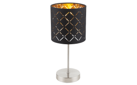 Tischleuchte in schwarz/goldfarbig