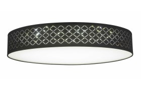 LED-Deckenleuchte Paco in schwarz/goldfarbig