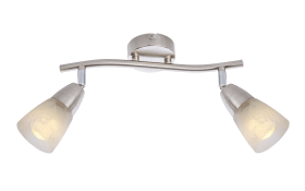 LED-Deckenleuchte 56048 in nickel matt, 2-flammig