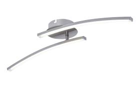 LED-Deckenleuchte Virgo in nickel matt, 59 cm