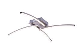 LED-Deckenleuchte Virgo in nickel matt, 69 x 69 cm