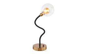 LED-Tischleuchte Eddy in goldfarbig antik
