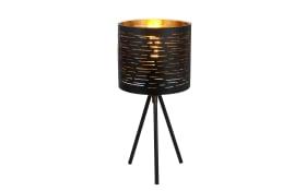 Tischleuchte Tunno in schwarz/gold, 17 cm