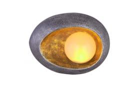 LED-Solarleuchte Stein in goldfarbig/schwarz