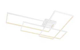 LED-Deckenleuchte Gabriel in weiß, 80 x 117 cm