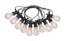 LED-Außenlichterkette Almaga in schwarz, 6 m