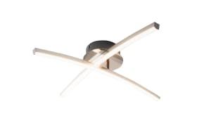 LED-Deckenleuchte Jambo in chromfarbig