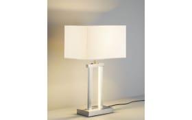 LED-Tischleuchte Domo in silber/weiß