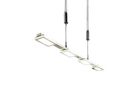 LED-Pendelleuchte Swipe in nickel matt / chrom