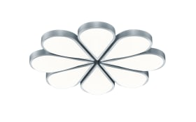LED-Deckenleuchte Flower in nickel matt