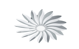 LED-Deckenleuchte Sun in silber matt, 59 cm