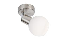 LED-Wandleuchte Loxy in nickel matt
