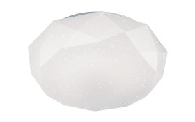 LED-Deckenleuchte Diamond in weiß