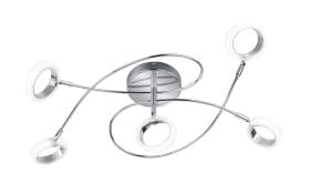LED-Deckenleuchte Corland II in chromfarbig, 5-flammig