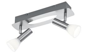 LED-Deckenleuchte Plucino in nickel matt, 2-flammig