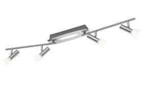 LED-Deckenleuchte Plucino in nickel matt, 4-flammig