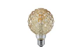 LED-Filament rund/geriffelt in beige getönt, 4W / E27