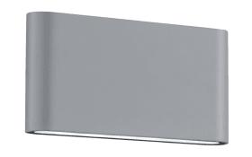 LED-Außenwandleuchte Thames II in titanfarbig, 17,5 cm
