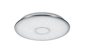 LED-Pendelleuchte Salina in chromfarbig, 42 cm