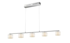 LED-Pendelleuchte Alegro in nickel matt, 5-flammig