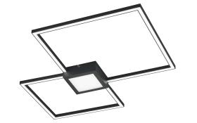 LED-Deckenleuchte Hydra in anthrazit, 65 x 65 cm