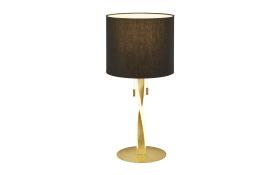 LED-Tischleuchte Nandor in goldfarbig/schwarz