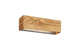 LED-Wandleuchte Brad aus Holz, 37 cm