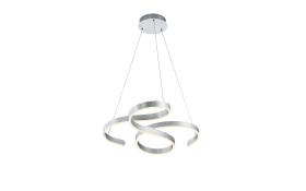 LED-Pendelleuchte Francis in aluminium, 72 cm