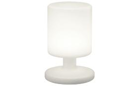 LED-Außenleuchte Barbados in weiß, Zylinder