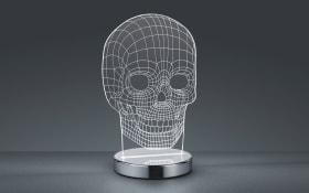 LED-Tischleuchte Skull in chromfarbig