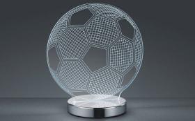 LED-Tischleuchte Ball in chromfarbig