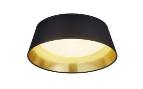 LED-Deckenleuchte Ponts in schwarz/goldfarbig