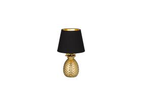 Tischleuchte Pineapple in goldfarbig, 35 cm