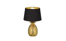Tischleuchte Pineapple in goldfarbig/schwarz, 43 cm