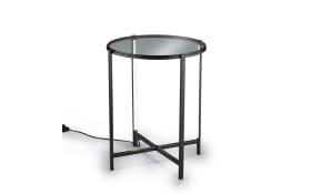 Tisch mit LED-Beleuchtung in schwarz