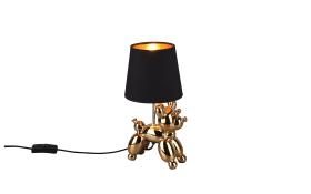 Tischleuchte Bello in schwarz/goldfarbig