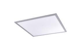 LED-Deckenleuchte Flat CCT in silber/weiß, 120 x 30 cm