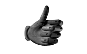 Wandleuchte Hold it Hand in schwarz
