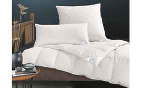 Daunenkassettenbett Pronight Bio Cotton medium in weiß, 155 x 220 cm