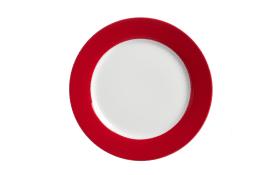 Speiseteller Doppio in rot, 20,5 cm