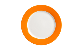 Dessertteller Doppio in orange, 20,5 cm