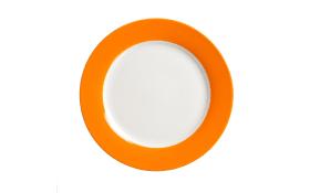 Speiseteller Doppio in orange, 20,5 cm