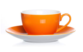 Untertasse Doppio in orange, 16 cm