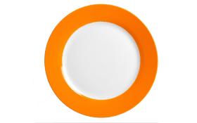 Speiseteller Doppio in orange, 27 cm