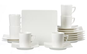 Kaffeeservice Pure in weiß, 18-teilig