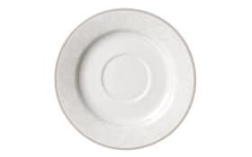 Kaffeeuntertasse Isabella in weiß, 16 cm
